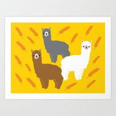 The Alpacas Art Print