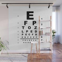 Eye Test Chart Wall Mural