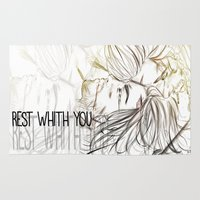fili Area & Throw Rugs featuring Rest with you... by JoySlash