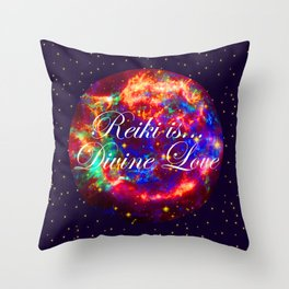 Reiki is Divine Love | The Energy it Flows | Going with the Flow Throw Pillow