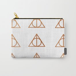 Copper Deathly Hallows design Carry-All Pouch