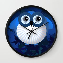 BUE OWL Wall Clock