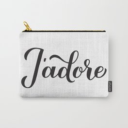 J'adore  calligraphy hand lettering. I adore in French Carry-All Pouch
