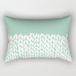 Half Knit Mint Rectangular Pillow