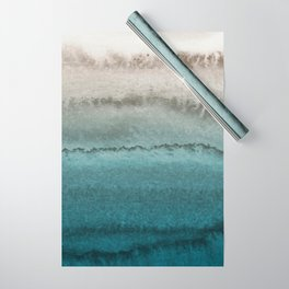 WITHIN THE TIDES - CRASHING WAVES TEAL Wrapping Paper