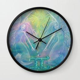 Gemini Angel Wall Clock