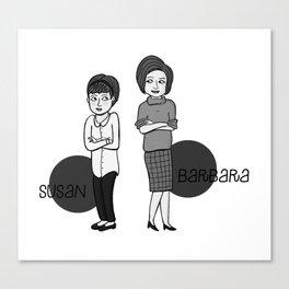 Doctor Who companions: Susan and Barbara Canvas Print