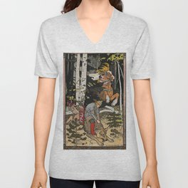 Catching The Grey Wolf By Ivan Biblin Unisex V-Neck