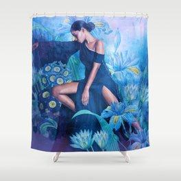 Ramona in the Garden of Dreams Shower Curtain