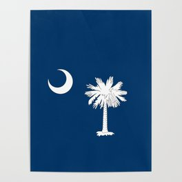 South Carolina State Flag Poster