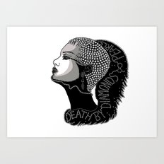 Death by Diamonds Art Print