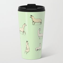 Llamas Metal Travel Mug
