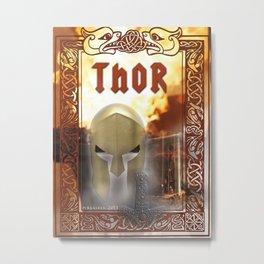Spiritual Art - Thor -  Metal Print