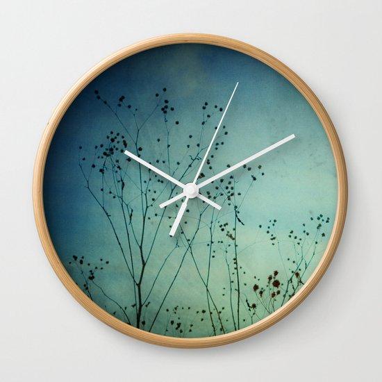 Fleeting Moment - Blue Shades Wall Clock