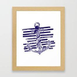 Castaway Navy Framed Art Print