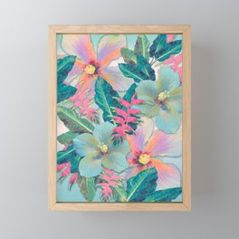 Aqua Ginger Alohas Framed Mini Art Print