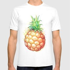 Fat Pineapple 1 Mens Fitted Tee White MEDIUM