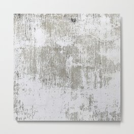 Vintage White Wall Metal Print