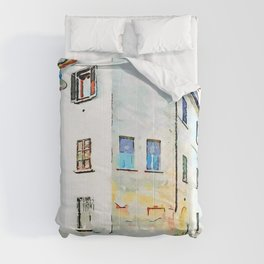Fognano: building and glimpse of a street Comforters
