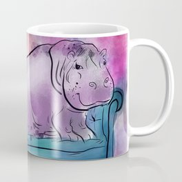 animals in chairs #9 variations on a theme Hippo Coffee Mug