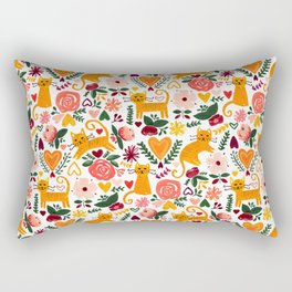 Valentine Cats Rectangular Pillow