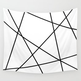 Lines in Chaos II - White Wall Tapestry