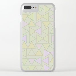 Tranquility and Triangles Clear iPhone Case