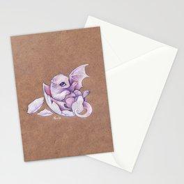 Little dragon hatchling Stationery Cards