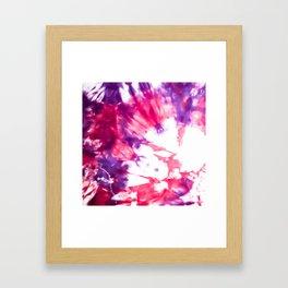 Modern Artsy Abstract Neon Pink Purple Tie Dye Framed Art Print