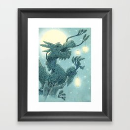 The Night Gardener - The Dragon Tree, Night Framed Art Print
