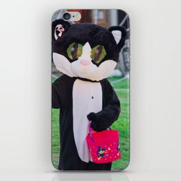 Cute Cat Costume on Halloween! iPhone Skin