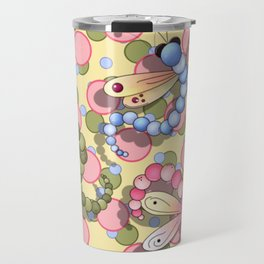 Dragonflies & Polka Dots Travel Mug