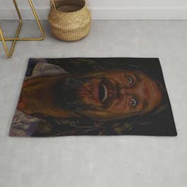 The Dude (Lebowski Screenplay print) Rug