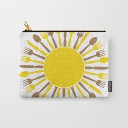 circular sun cultery design Carry-All Pouch