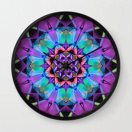 Floral Fractal Art G547 Wall Clock
