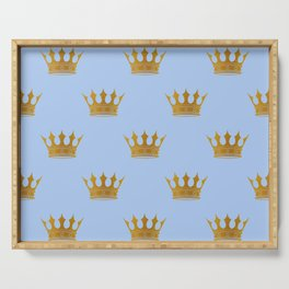 Louis Blue Gold Crown Prince of Cambridge Serving Tray