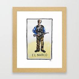 El Narco Framed Art Print