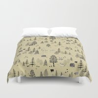 forrest Duvet Covers featuring Forrest Pattern by Mai Ly Degnan
