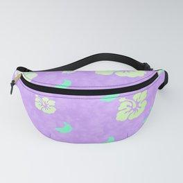Tropical Pattern Purple Fanny Pack