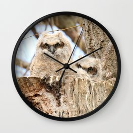 Sibling Espionage Wall Clock