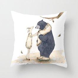 Winter gift for Bear Throw Pillow