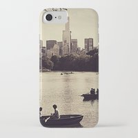 central park iPhone & iPod Cases featuring Central Park by C Liza B