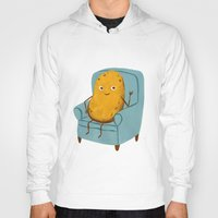 Hoodies featuring Couch Potato by Julia Bereciartu