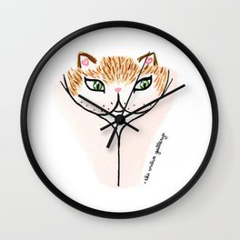 Vulvacat - Ginger Gold Wall Clock