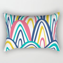 Arched Stripes Rectangular Pillow
