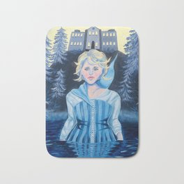 Crying Woman in Water Bath Mat
