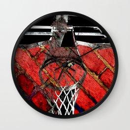 Red Basketball Art Wall Clock
