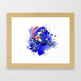 Greninja Makes a Splash Framed Art Print