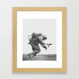 Flamethrower Operator - Battle of Iwo Jima Framed Art Print
