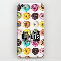 donuts iPhone & iPod Skins featuring DONUTS by Vertigo